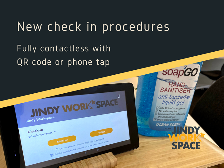 New Checkin Procedures at JindyWorkspace